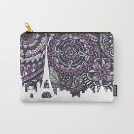 Paris Skyline, Paris Art Print, Paris Zentangle, Paris illustration, Home Decore, City silhouette Carry-All Pouch