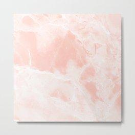 Bright Pink Marble Metal Print