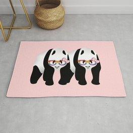 Lesbian  Gay Pride Pandas Rug
