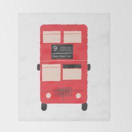 Red Double Decker Bus  Throw Blanket