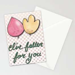 I've Fallen for You with Dots Stationery Cards