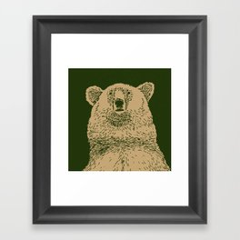 Kodiak Bear Framed Art Print