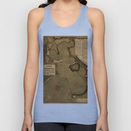 Map Of Antigua 1745 Unisex Tank Top