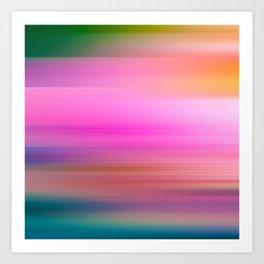Blurred colours Art Print