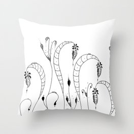 Cocoon Garden Doodle Art Throw Pillow