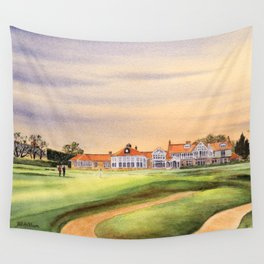 Muirfield Golf Course 18th Green Wall Tapestry