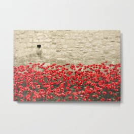 Tower Poppies 02A Metal Print