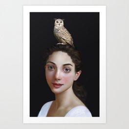 Miss Owl Art Print