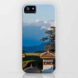Bhutan: Sunset on Dochula Pass with Himalaya in background iPhone Case