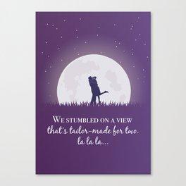 La la land movie phrase moon love Canvas Print