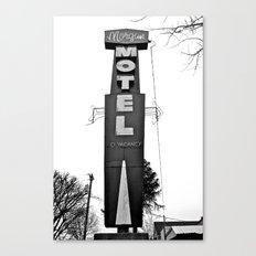 Morgan Motel sign Canvas Print
