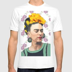 Frida MEDIUM Mens Fitted Tee White