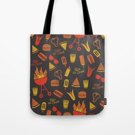 Kiss the Cook - Dark Palette Tote Bag