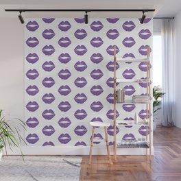 Purple Lips Wall Mural
