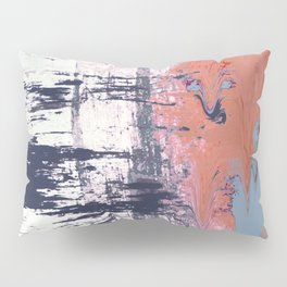 Leap of Faith: colorful abstract piece in blues, pinks, and gold Pillow Sham