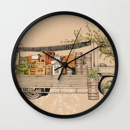 Green Invasion Wall Clock