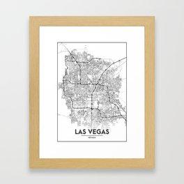 Minimal City Maps - Map Of Las Vegas, Nevada, United States Framed Art Print