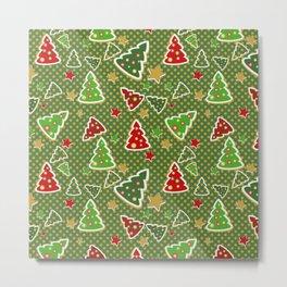 Christmas Tree Cookie Cutters Metal Print