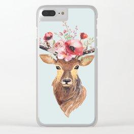 Bohemian Deer 2 Clear iPhone Case
