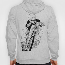 Biker on The Road Hoody