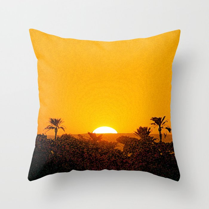Don't Let The Sun (Go Down) Throw Pillow