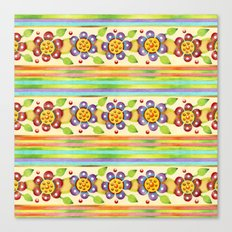 Parterre Botanique Floral Canvas Print