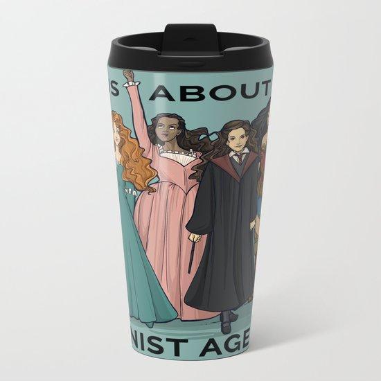 Feminist Agenda Metal Travel Mug