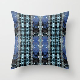 Bleached Ice Throw Pillow
