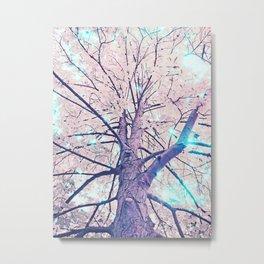 Lightfull Trees Metal Print