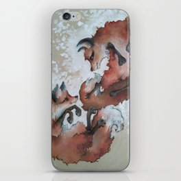 Foxes, snow day iPhone Skin