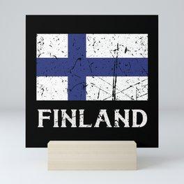 Finland Finland Flag Mini Art Print
