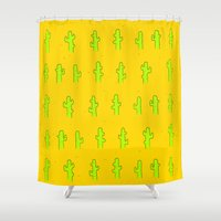 cacti Shower Curtains featuring Cacti by Trenton