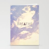 breathe Stationery Cards featuring Breathe by Rachel Burbee