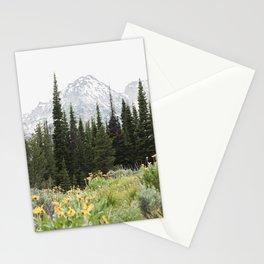 Grand Teton National Park Wildflower Adventure - Wanderlust Mountains Stationery Cards