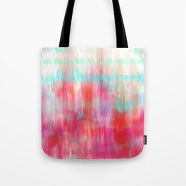 Color Song - abstract in pink, coral, mint, aqua Tote Bag