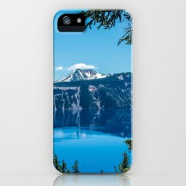 Crater Lake Views // National Park Landscape Photography Clear Deep Blue Waters iPhone Case