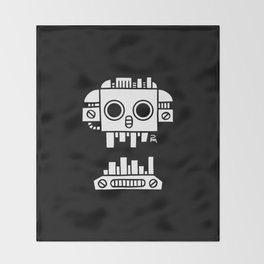 Mechanical Jolly Roger - PM Throw Blanket