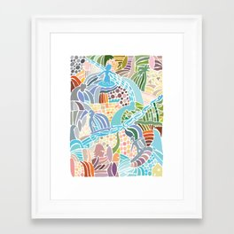 Line Up Framed Art Print