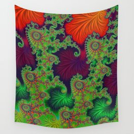 Psychadelic Centerpiece - Fractal Art Wall Tapestry