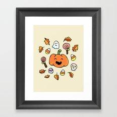 Halloween Doodles Framed Art Print