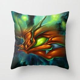 Orange Neon Throw Pillow
