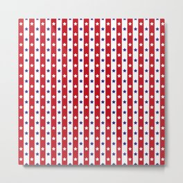 Stars and Stripes | Red White and Blue Pattern | Metal Print
