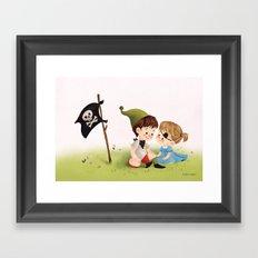 Two Little Pirates Framed Art Print