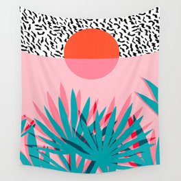 Whoa - palm sunrise southwest california palm beach sun city los angeles retro palm springs resort  Wall Tapestry