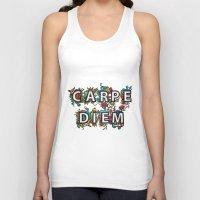 carpe diem Tank Tops featuring Carpe Diem by Digi Treats 2