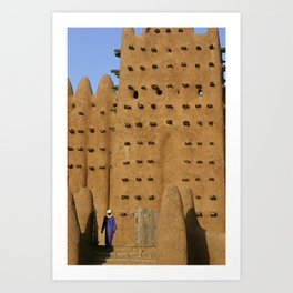 Sunrise on the legendary mosque of Djenné, Mali Art Print