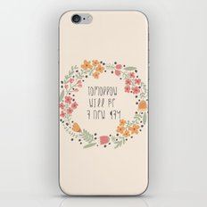 Small Floral Graphic Design Typography Art  iPhone & iPod Skin
