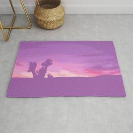 Lavender Joshua Sunset - Pop_Art Rug