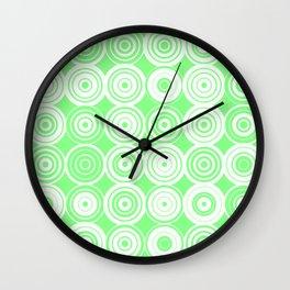 Green circles Wall Clock
