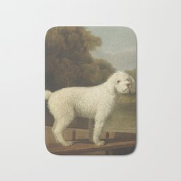 George Stubbs White Poodle in a Punt c. 1780 Bath Mat